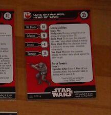 STAR WARS MINIATURES ALLIANCE AND EMPIRE LUKE SKYWALKER HERO OF YAVIN 12/60 CARD