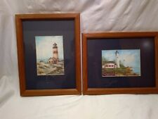 """Impulse Designs framed and matted pictures or prints of lighthouses 13"""" x 10"""""""