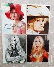 4 Photos dédicacées Brigitte Bardot