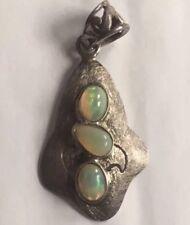 Arts & Crafts TRILOGIA Opale Naturale Pendente d'argento