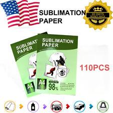 Heat Press Sublimation Transfer Paper 110sheets On T Shirt Mug For Injet Printer