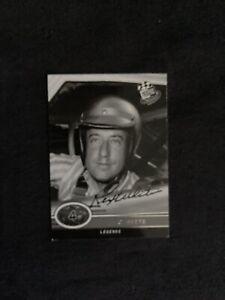 Rex White  Nascar HOF Driver Signed Trading Card