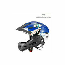 ROCKBROS Cycling Children Full-Face Helmet Ultralight Protect Helmet Blue White