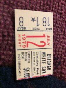 JULY 12 1979 White Sox Tigers  Yellow Ticket Stub - Disco Demolition - Comiskey