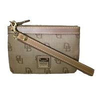 NEW ~ DOONEY & BOURKE Brown Signature Pouch Wristlet Key Ring