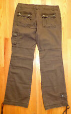 New ** BUCKLE ~ BKE ~ CANYON ** Brown Cargo Cotton Comfy Pants NWT 32 x 33
