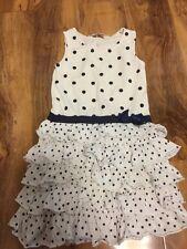H & M Girls Ruffles Dress Aged 4-6 Years Old EUR 110/116 Cm