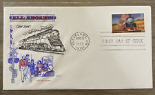 FDC FIRST DAY COVER DAYLIGHT ALL ABOARD LOCOMOTIVE TRAIN CACHET CRAFT