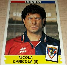 FIGURINA CALCIATORI PANINI 1994/95 GENOA CARICOLA ALBUM 1995