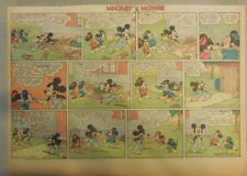 Mickey Mouse Sunday Page by Walt Disney from 12/1/1940 Half Page Size