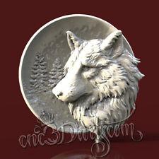 3D STL Model Forest Wolf Head for CNC Router Carving Machine Artcam aspire Cut3D