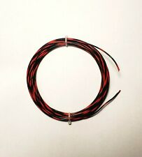 20 AWG, 600V Mil-Spec Wire (PTFE) Blk/Red, Stranded Silver Plated, 25 ft