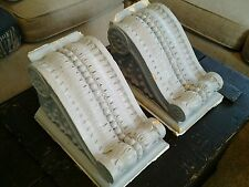 STUNNING PAIR OF ANTIQUE PLASTER CORBELS OUT OF SANDUSKY OH AMERICAN CRAYON #2
