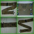 US Army USMC M1936 Pistol Web Belt Khaki WWII original RMCO 1942