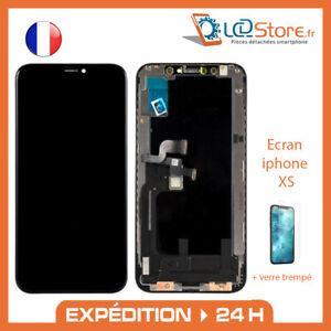 Ecran Vitre tactile pour iphone XS OLED + verre trempé offert