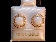 Opal Schmuckset - 1,35 ct. - Milgrain - 10 Kt. Gold  417 - Anhänger & Ohrstecker