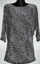 Polyester Animal Print Batwing, Dolman Sleeve Machine Washable Tops & Blouses for Women