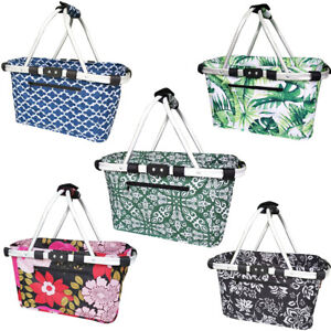 Sachi 49cm Collapsible/Foldable Picnic Shopping Carry Basket