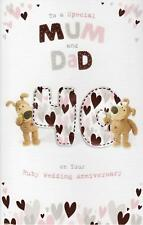 BOOFLE SPECIAL MUM AND DAD 40TH WEDDING ANNIVERSARY CARD RUBY NEW GIFT