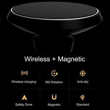 Qi Cell Phone Charger Air Vent Car Charging Mount Holder Magnetic Wireless