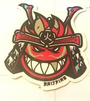 Spitfire, Skateboard Sticker, Brave Warrior, Very Cool, Manufacturer's Original