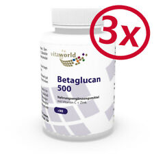 Pack di 3  Beta-glucano  500mg  270 Capsule  Vita World Farmacia in Germania
