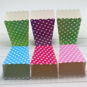 Mickey Minnie Mouse Popcorn Boxes Treat Polka Dots goody Favors Party Decoration