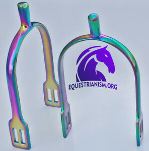 Rainbow Flat End Stainless Steel Spurs Free Strap