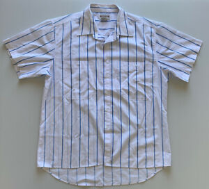 Vintage Mens Mcgregor Sportswear Button Up Shirt XL White Striped Pre Owned *L1
