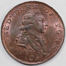 1795 1/2p D&H-985a Duke of York Middlesex Conder Token