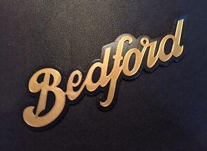 Reproduction Plastic Grille Badge Emblem Script Logo Motif For Vintage Bedford