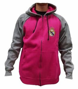Official Rhinox Real Madrid FC Pink/Gray Hoodie With Zipper size XL