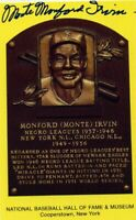 Monte Irvin Autographed Hall of Fame Card With Scarce FULL Signature