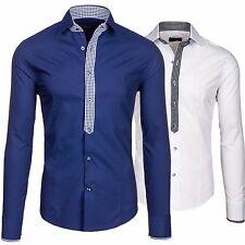BOLF 0939 Classic Herren Langarm Herrenhemd Men Shirt PoloFreizeit Slim 2B2 Hemd