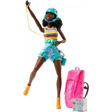 Barbie Made to Move CAMPING FUN ROCK CLIMBING African American Doll NEW FNY37!!
