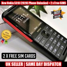 NUOVO Nokia 5310 (2020) Dual SIM sbloccato telefono cellulare-nero con 2 X SIM GRATIS
