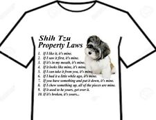 T Shirt Shih Tzu Show Dog Chinese Toy Little Lion Breed Property Laws =4 Designs
