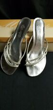 Michaelangelo Marly Silver low heel Shoes womens 8.5 worn once
