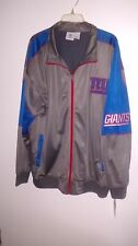NY GIANTS NFL TRACK JACKET 3X GRAY & BLUE