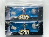 STAR WARS TRILOGY Micro Machines Movie Promo 1996 Exclusive Galoob, Lot of 2 New
