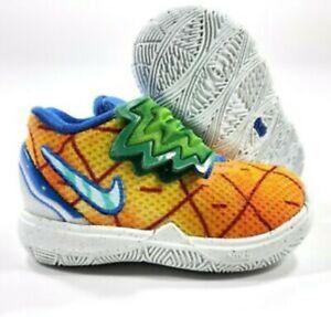 Nike Kyrie 5 TD SBSP Spongebob Squarepants Pineapple Toddler Shoe 4C  CN4490-800