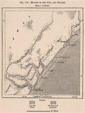 Bocche del Giuba e bubashi. SOMALIA 1885 VECCHIO ANTICO MAPPA piano Grafico