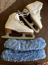 Riedell Ice Skate Boots, Blades, 2 Sets Of Covers Size 6.5 (8)