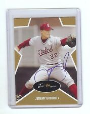 JEREMY GUTHRIE Royals 2003 Stanford *GOLD* Certified #'d AUTOGRAPH RC xxx/100
