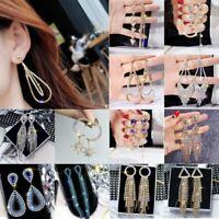 Luxury Crystal Drop Earrings Geometric Dangle Earrings Women Wedding Jewelry Hot