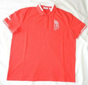 Mens Lacoste Sailing Club Regular Fit Polo Orange Size US XL FR 6