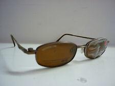 Genuine Diseñador Gafas Marcos por Cool Clip CC826 CLIPON Gafas de sol en Marrón 582