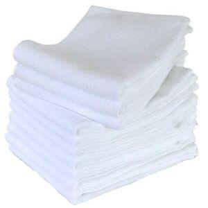 Japanese Senshu White Face Towel 10 pcs set Cotton 100% 35 x 91 cm Made in JAPAN