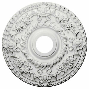 "Ekena Millwork CM18RO Rose Ceiling Medallion, 18""OD x 3 1/2""ID x 1 1/2""P"
