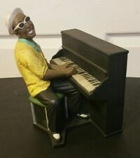 "Vintage ""RAY CHARLES"" Statue / Historical American Legend Playing The Piano 10"""